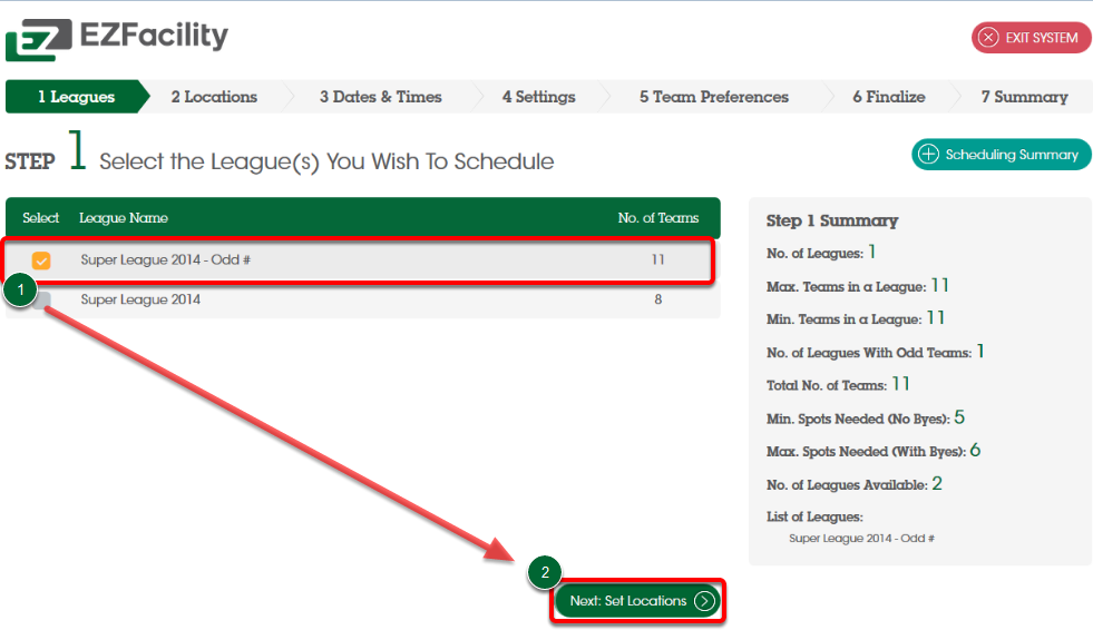softball league schedule generator