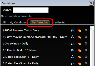 Any conditions created by using Condition (PCF) Formulas will be located under My formulas.