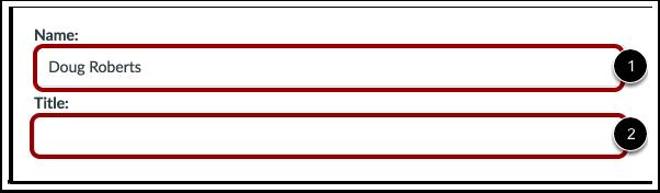 Editar Nome e Título