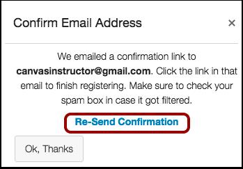 Confirmar Endereço de E-mail