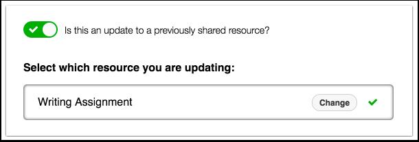Actualizar recursos