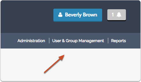 "-Or- click ""User & Group Management"" in the right hand navigation bar that appears on most screens in the program"