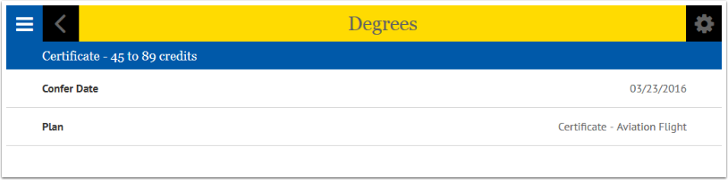 Degrees Screen