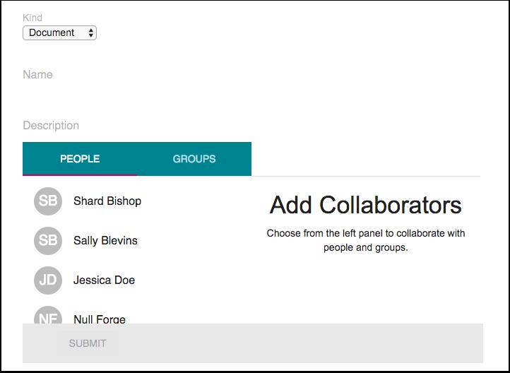Vis Google Drive-samarbeid