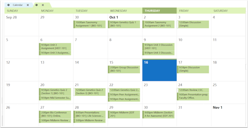 Vis kalenderen du abonnerer på
