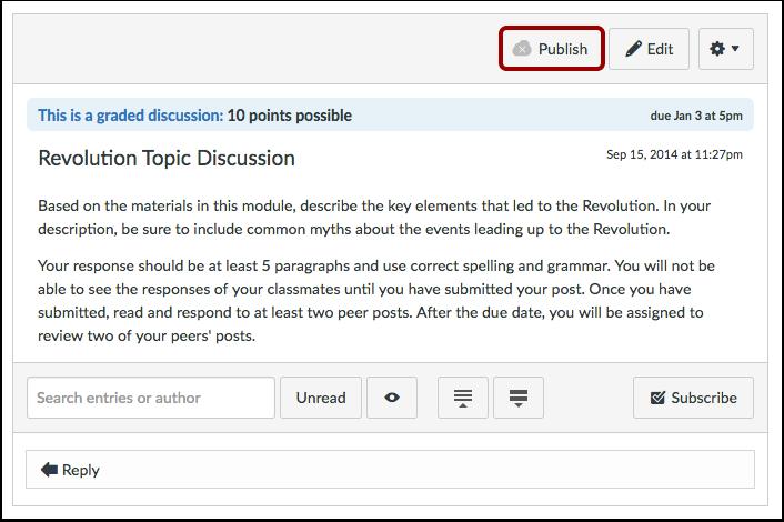 Publisere diskusjonen