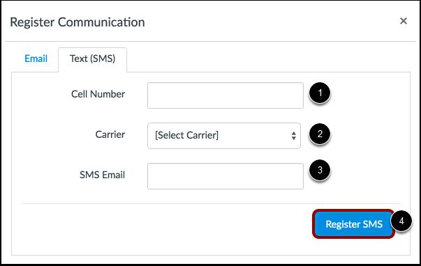 Registrer SMS: USA