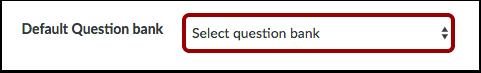 Velg spørsmålsbank