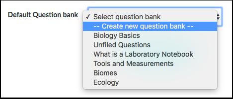 Opprette spørsmålsbank