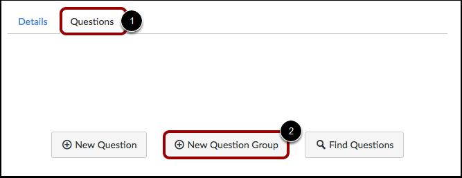 Legg til ny spørsmålsgruppe