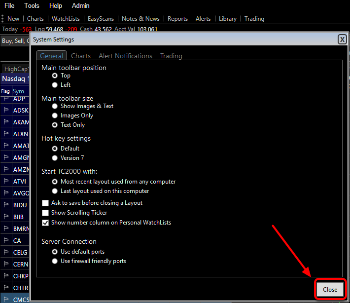 4. Select Ok to save the changes and close the window.