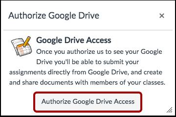 Godkjenn Google Drive