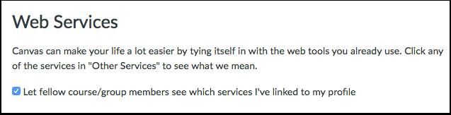 Koble tjenester til profil