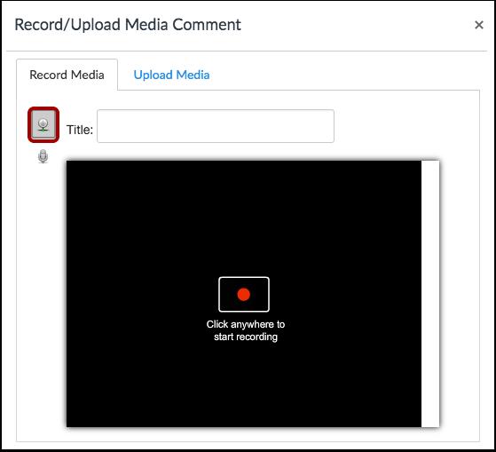 Velg alternativet for videoopptak