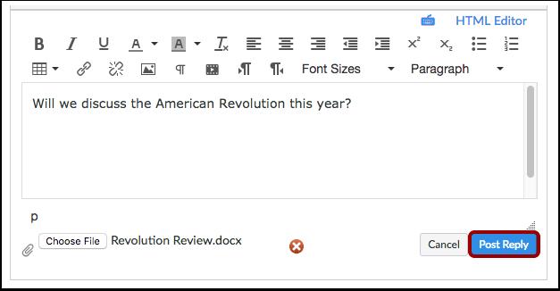 Publiser svar