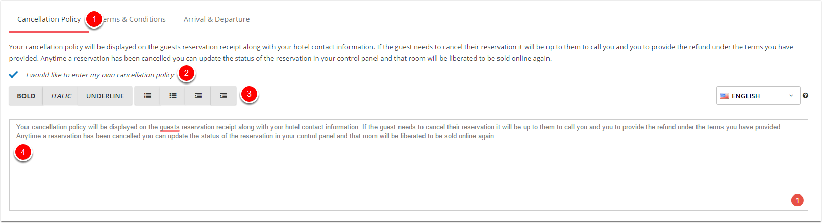 manual hotel booking system