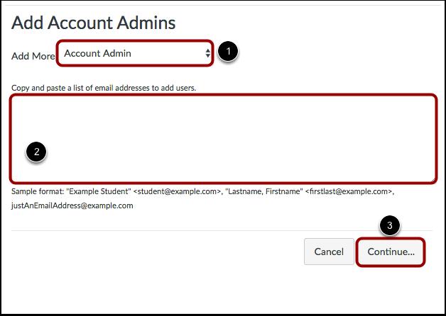 Agregar el rol y correo electrónico del administrador