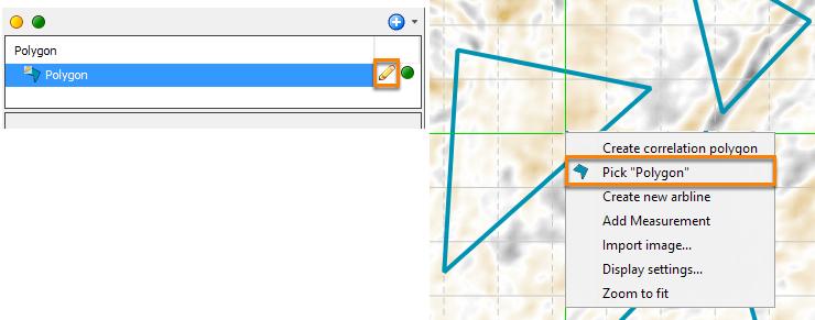 Edit polygon