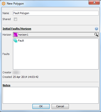 Create a new fault polygon