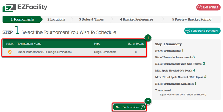 Scheduling Wizard