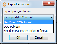 Select the export format for exporting multiple polygons