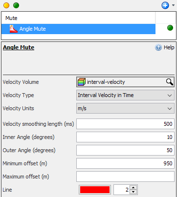 Define settings for angle mute