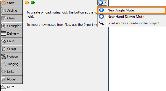 Create an angle mute