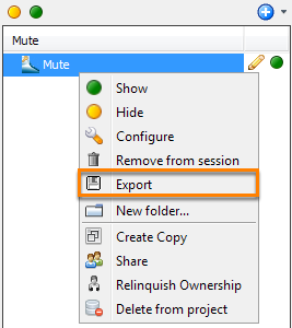 Export a mute