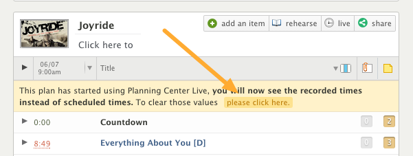 If you or someone else went into Live and clicked through, your plan may look like this: