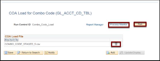 COA Load File section
