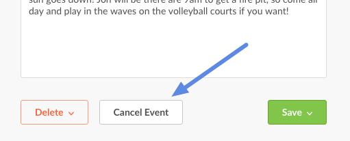 cancel event