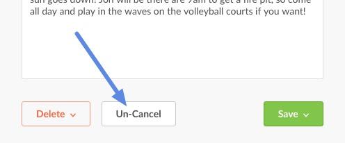 un-cancel event
