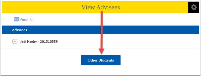 View Advisees page
