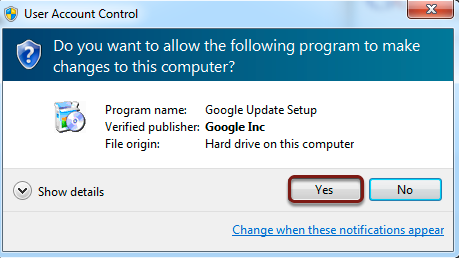 Be sure to allow the toolbar to make changes to the computer. This will not be a malicious download.