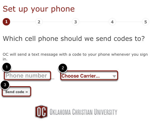 Add Cell Phone Number