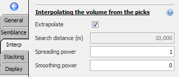 Interpolating the volume from the picks