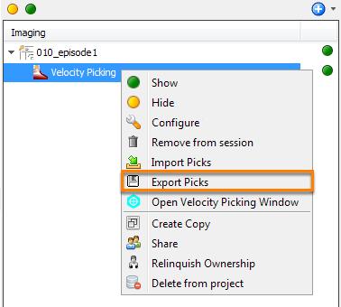 Export picks