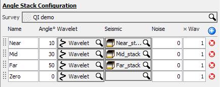 Configure angle stacks