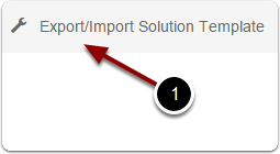 Open the import/Export tool