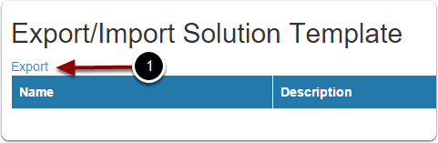 Export the solution from the test environment