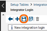 Save the Integrator login.