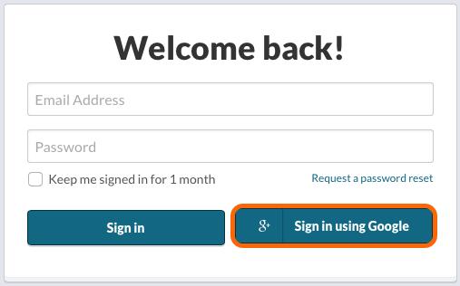 Google OAuth2 Single Sign On Login Screen