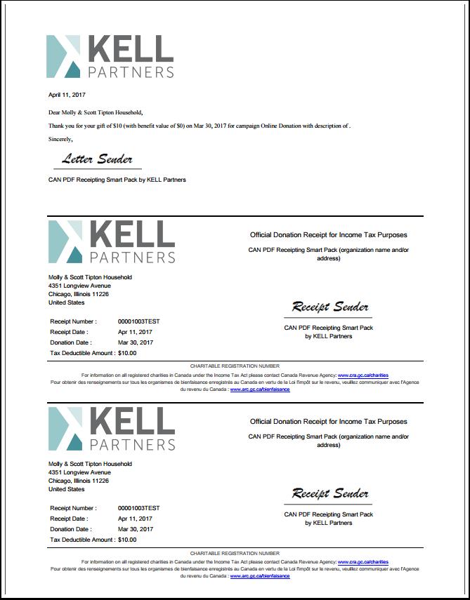 copies of receipts