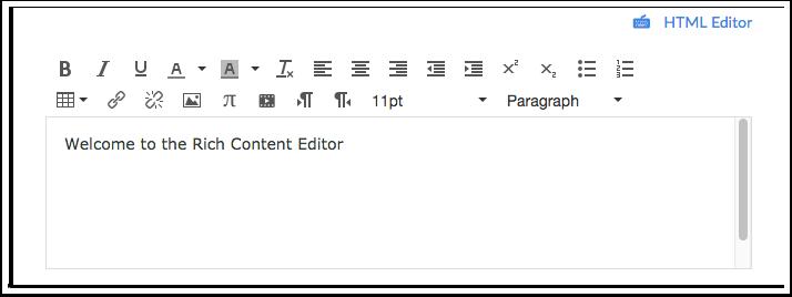Abrir o Editor de Rich Content