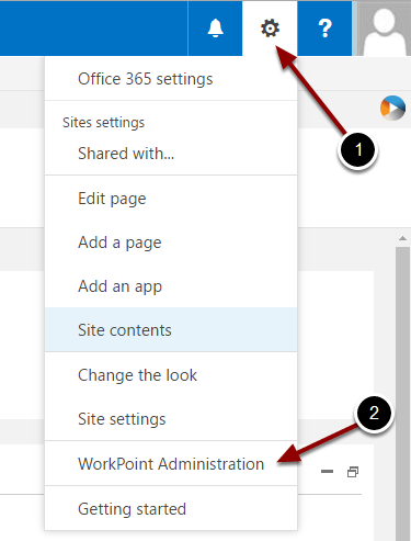Configure Relations in the WorkPoint 365 Administration