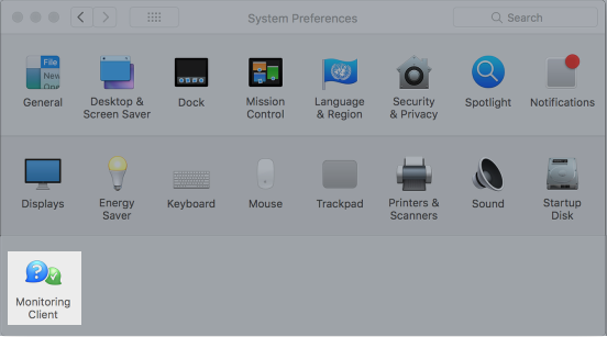 Your Brand in System Preferences