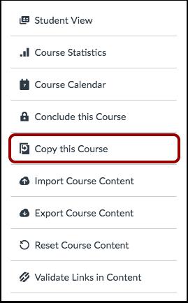Copy Course Content Button