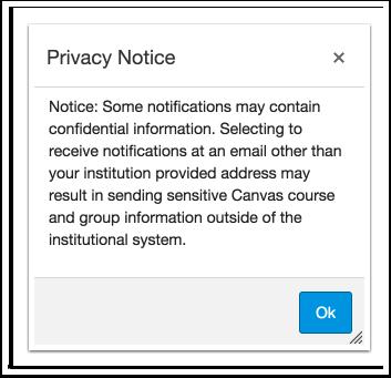 Visualizar o Aviso de Privacidade