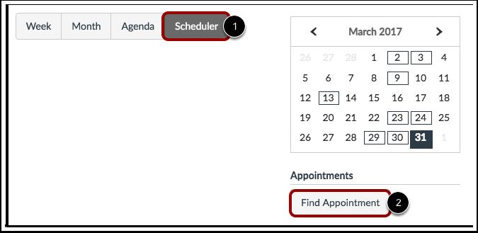 Visualizar Agendador