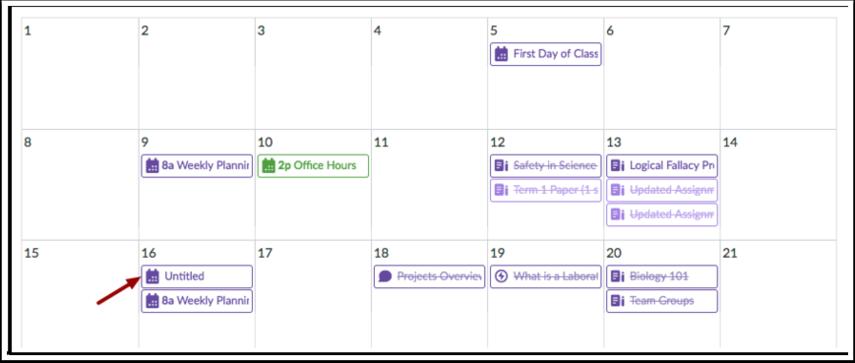 Visualizar Eventos de Dia Todo
